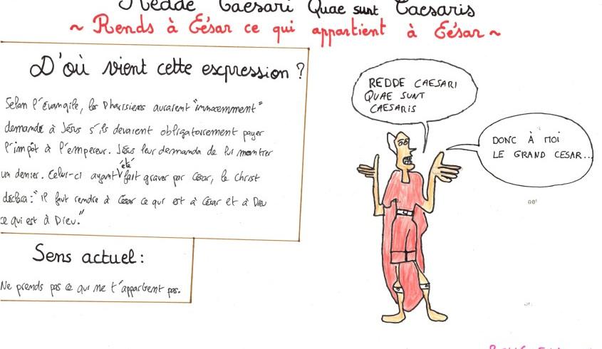 Redde Caesari quae Caesaris sunt