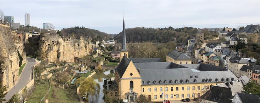 Vue panoramique sur Luxembourg-ville