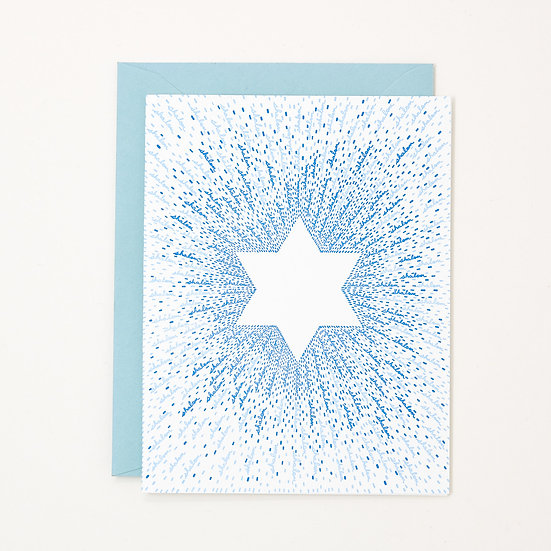 Shalom Star of David Hanukkah