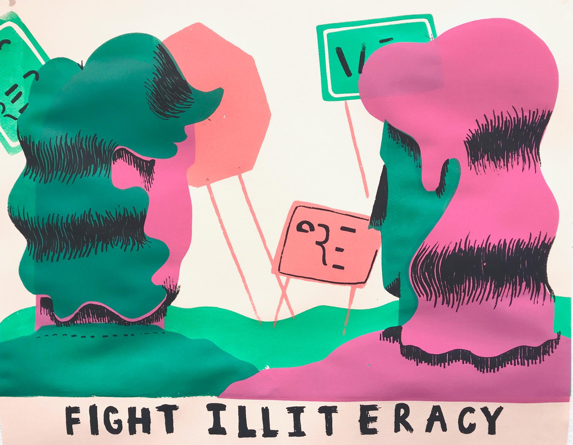 Illiteracy Poster
