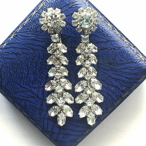 WEISS Rhinestone earring