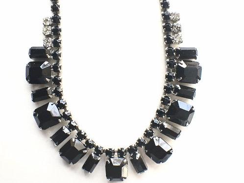 WEISS Black Rhinestone Necklace