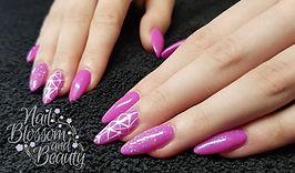 Gel nails done at Nail Blossom and Beauty