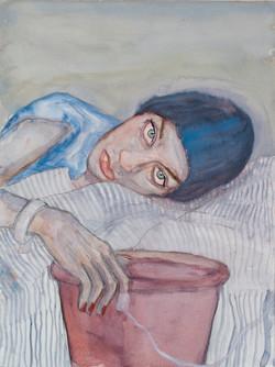 Self - Portrait with Bucket