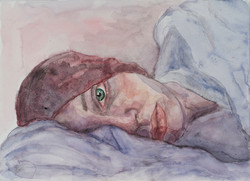 Self - Portrait in Bed   -  2013