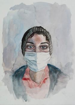 Self- Portrait in Mask  2013
