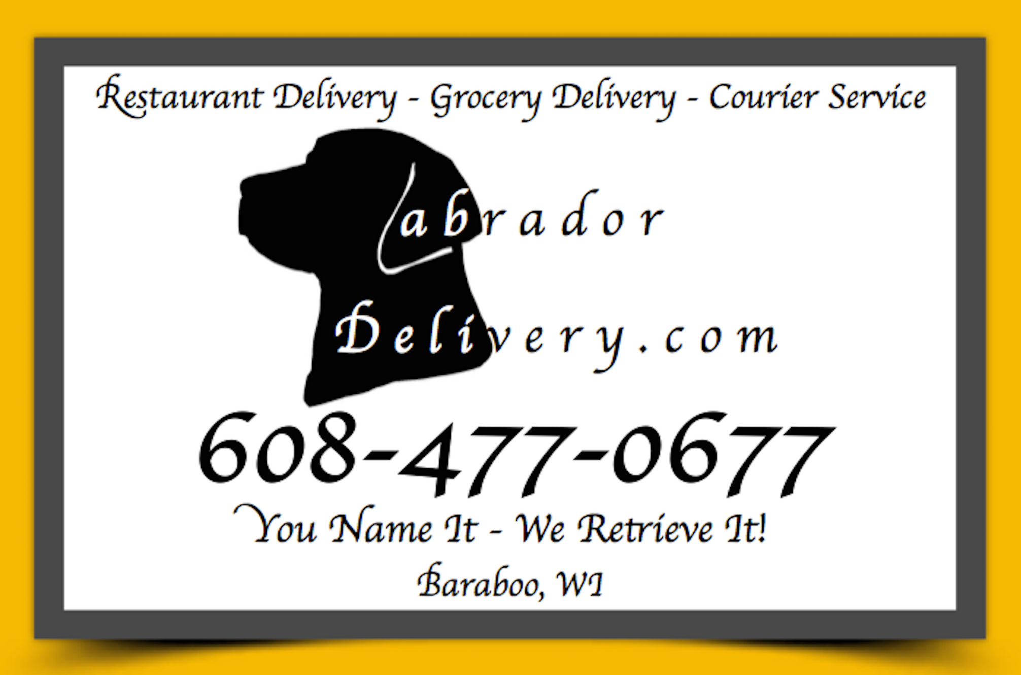 Gift Cards | Labrador Delivery Services Baraboo WI