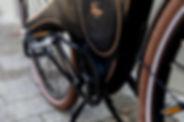 The greaseless belt drive on the Tiller Rides Roadster e-bike