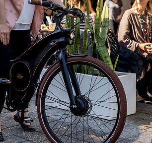 The quiet electric drive on the Tiller Rides electric bike
