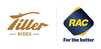 The Tiller Rides and RAC WA logos