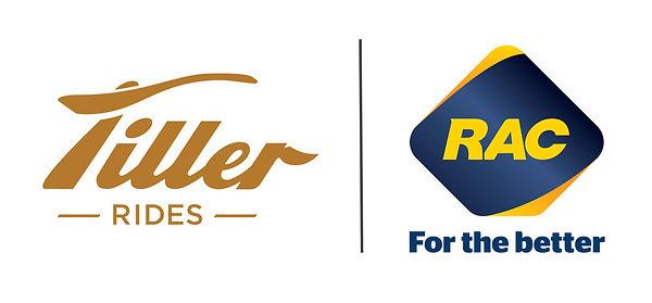 Tiller Rides and RAC WA's logos