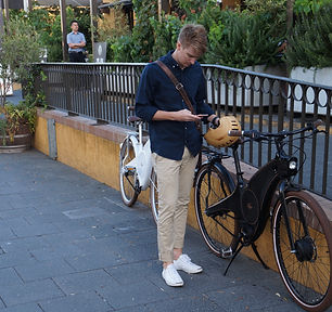 Unlocking th Tiller Rides Radster e-bike with the smart phone app