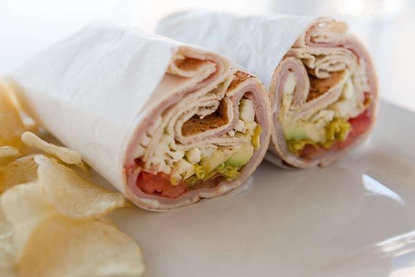Famous Turkey Pita Wrap with avocado str