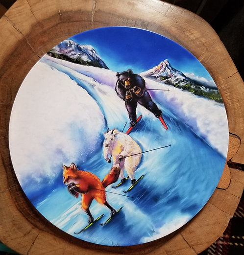 """""""Outfoxed"""" 10 inch diameter Plate"""