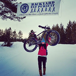 Competed in the 60K fat bike race, Backyard Fat Pursuit, Island Park, Idaho, Mimi Matsuda