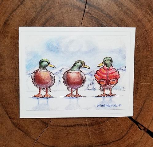 """Sticker - """"Duck, Duck, Goose Down"""""""""""