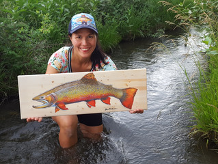 August 9 Art Walk: featured artist at Montana Angler Fly Fishing shop