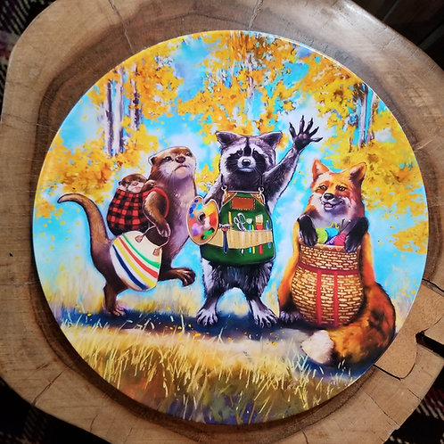 """Best Friends"" 10 inch diameter Plate"