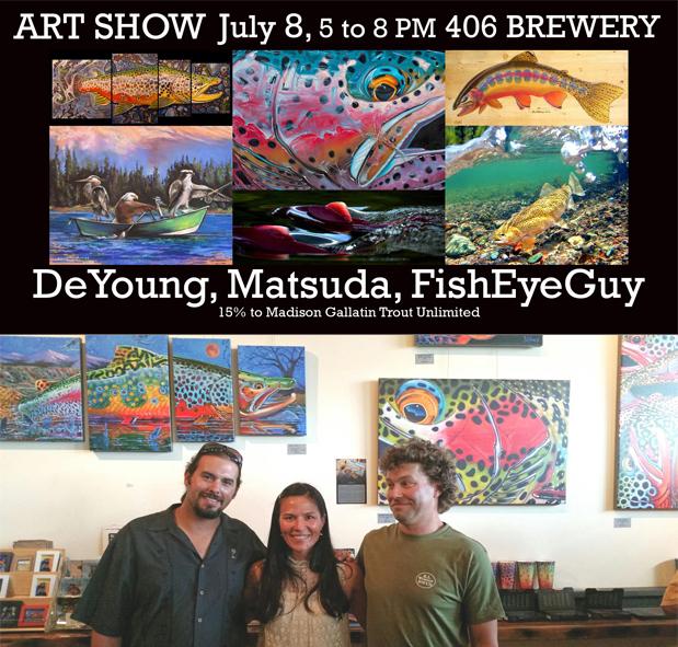 ArtShow:DeYoung, Matsuda, FisheyeGuy