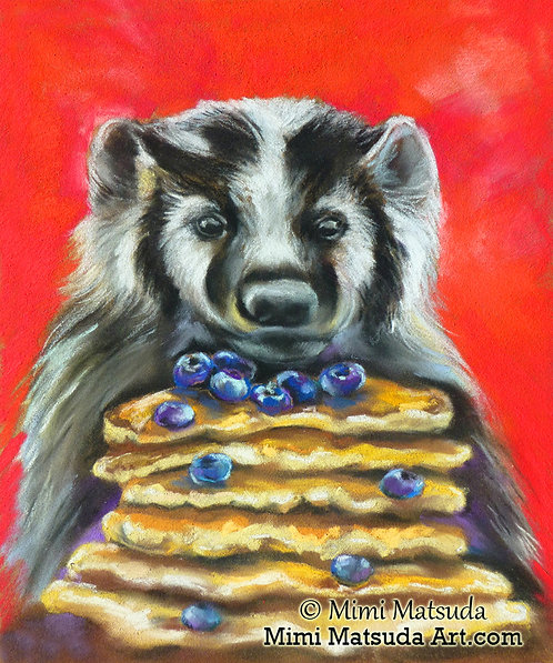 Badger with Blueberry Pancakes #BD15