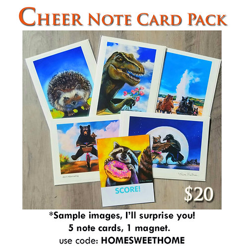 CHEER Note Card Pack & Magnet