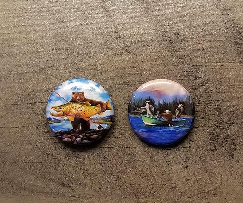button set - fishing fans