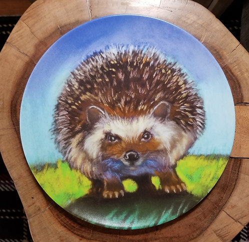 """Hedgehog"" 10 inch diameter Plate"