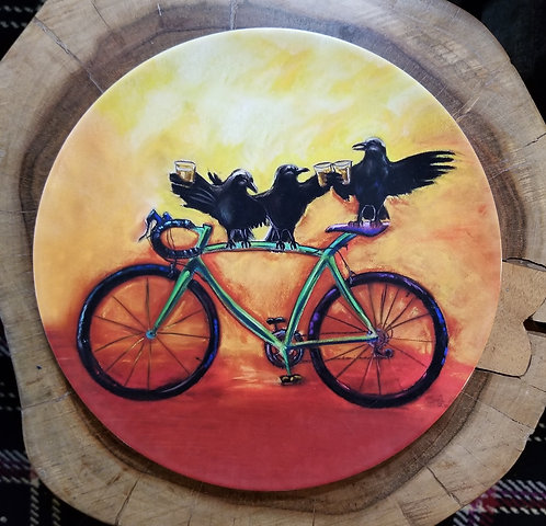 """Crow Bar"" 10 inch diameter Plate"