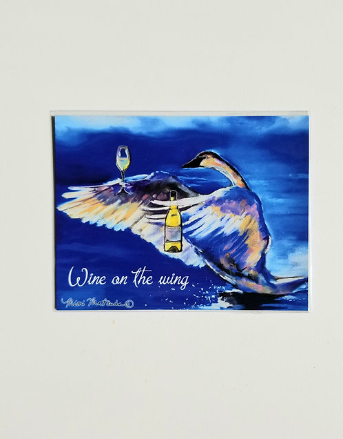 """Magnet - """"Wine on the wing"""""""