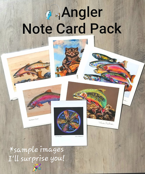 ANGLER Note Card Pack & Magnet
