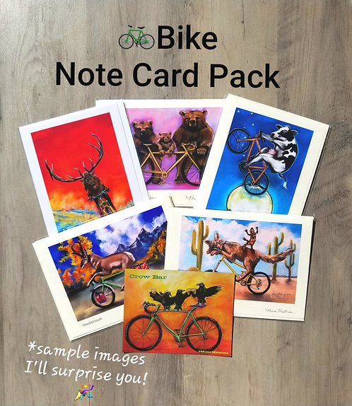 BIKE Note Card Pack & Magnet