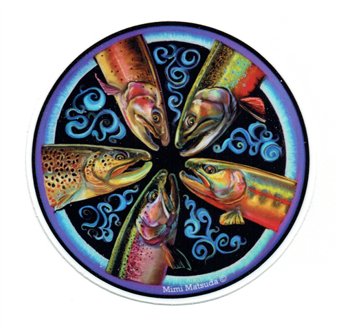 Trout Mandala Sticker