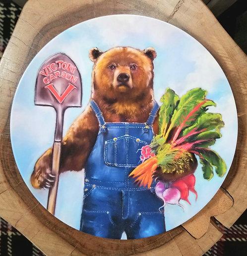 """Victory Garden"" 10 inch diameter Plate"
