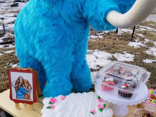 """Creating a mini woolly mammoth for """"Menagerie of the Imaginary """", Bozeman MT"""