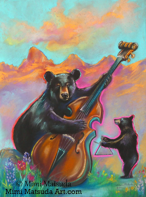 Improv in Ursa Major - ORIGINAL SOFT PASTEL