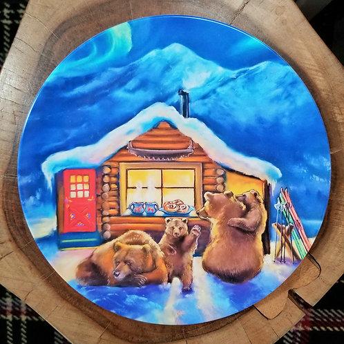"""Aprés Ski"" 10 inch diameter Plate"
