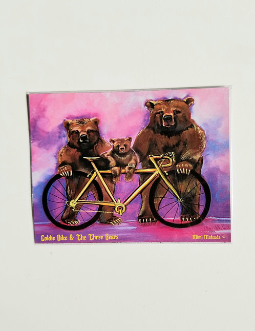 "Magnet - ""Goldie Bike and the Three Bears"""