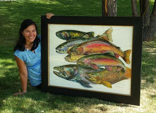 Art for the Inaugural International Trout Congress, Oct. 2016, Bozeman, Montana