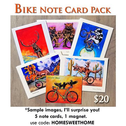 BIKE Note Card Pack & Magnet