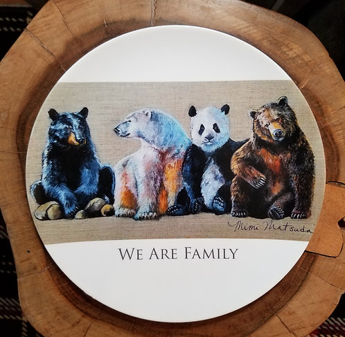 """""""We Are Family"""" 10 inch diameter Plate"""