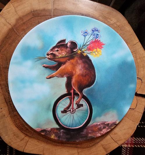 """""""Pika Pedals Petals"""" 10 inch diameter Plate"""
