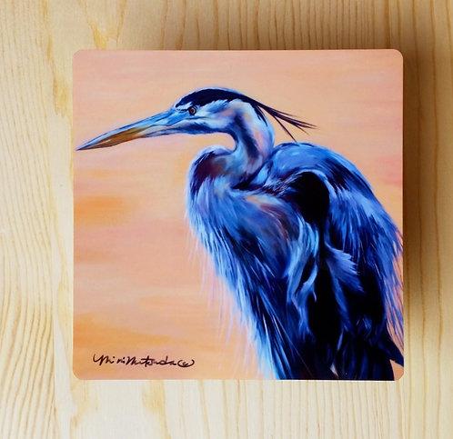 Great Blue Heron - small metal print