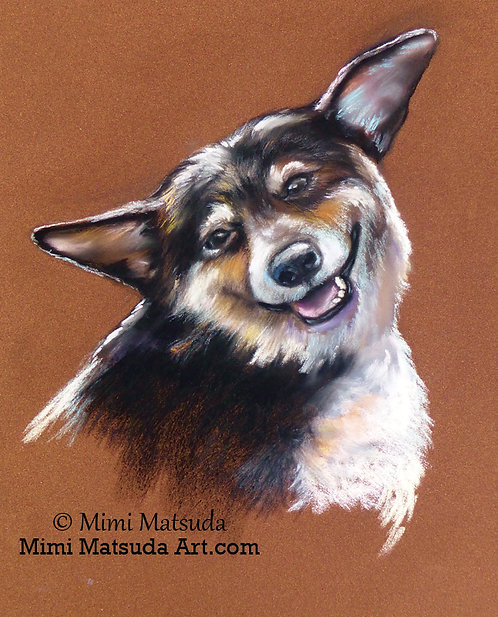 Tri-color Corgi - ORIGINAL SOFT PASTEL