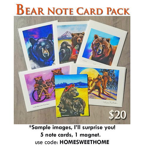 BEAR Note Card Pack & Magnet