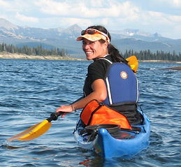Paddle time on Yellowstone Lake, Mimi Matsuda