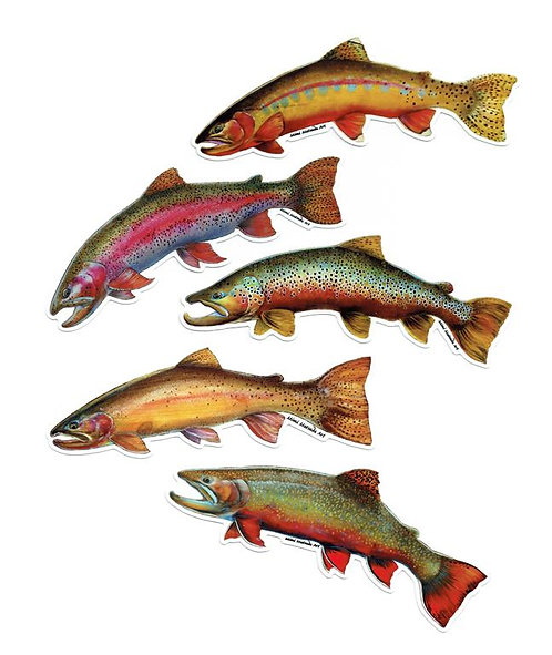 Trout Stickers - 5 types