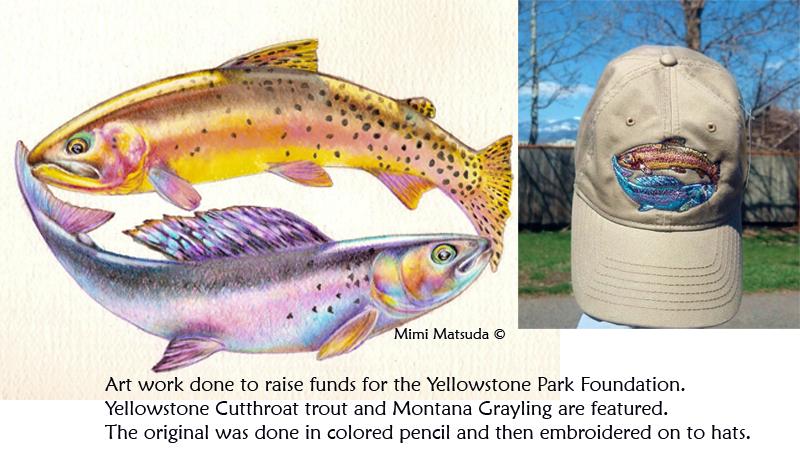 Mimi Matsuda Art for YPF hats