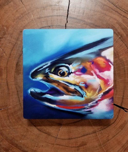 Westslope Cutthroat trout - small metal print