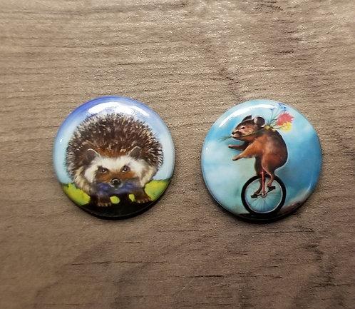 button set -cute round mammals!