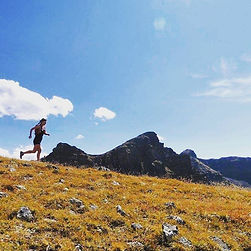 Mimi Matsuda trail runs in a happy place: the mountains